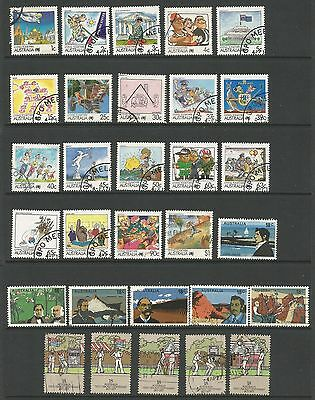 Australia 1988  Living Together Cricket Explorers Collection 30 Stamps Good/Fine