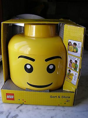 NEW Large Lego Head Sort Store Container