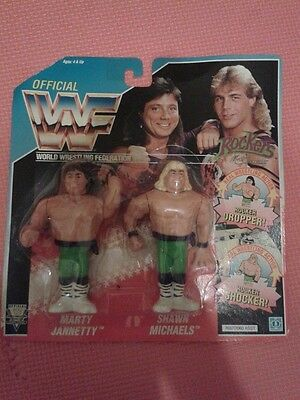 Vintage WWE WWF The ROCKERS Marty and Shawn Wrestling Action Figures By Hasbro