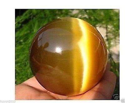 Beautiful ASIAN QUARTZ TIGER EYE CRYSTAL HEALING BALL SPHERE 40MM + STAND