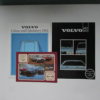 Volvo 240/260 Brochure plus Colour and Upholstery Guide plus Price List - 1982
