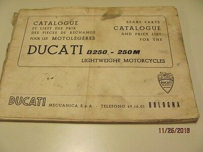 Ducati  Original Parts Lists For Diana 250 And 250 Monza