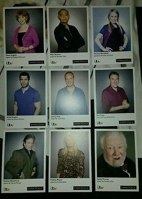 Set of 9 - Emmerdale Cast Cards - (NEW!) - Memorabilia