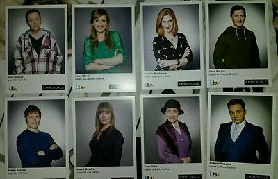 Set of 8 - Emmerdale Cast Cards - (NEW!) - Memorabilia