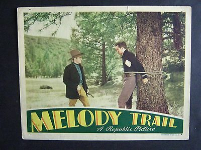 Melody Trail '35 Gene Autry With Man Tied To A Tree Western Lc