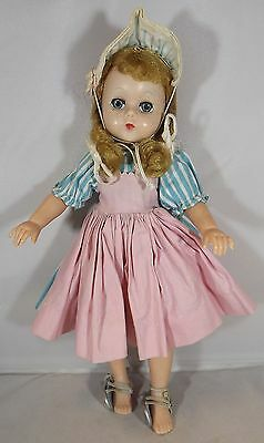 "VINTAGE 1950s 11"" MADAME ALEXANDER HARD PLASTIC LISSY DOLL IN ORIGINAL DRESS"