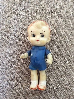 Vintage Plastic Boy Doll With Moveable Arms And Head**