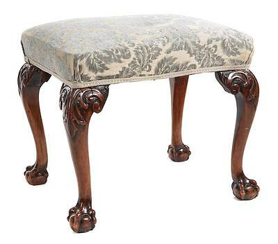 19Th Century Victorian Carved Walnut Stool