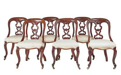Set Of 6 19Th Century Victorian Mahogany Dining Chairs