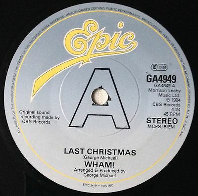 """Wham!, Last Christmas/Everything She Wants, Double A, 45RPM Vinyl (7"""")"""