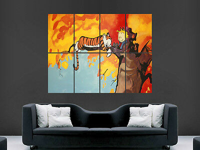 Calvin And Hobbes Kids  Wall Poster Art Picture Print Large  Huge