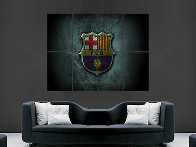 Barcelona Fc  Football  Wall Art Picture Poster Giant Huge
