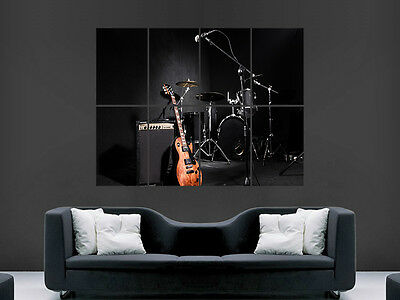 Band Music Drums Kit Guitar   Giant Wall Poster Art Picture Print Large Huge