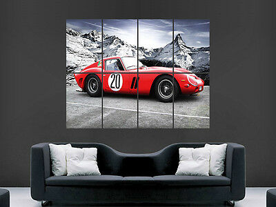 Ferrari Gto Supercar Classic  Large  Wall Picture Poster Giant Huge Art