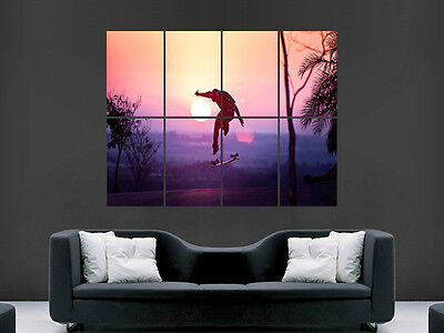 Skate Jump Sunset Giant Wall Poster Art Picture Print Large Huge