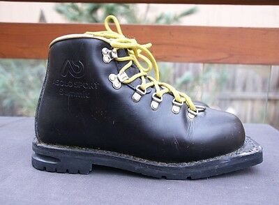 ASOLO Sport Summit Telemark Backcountry 75mm 3 Pin Ski leather Boots sz 7 Italy