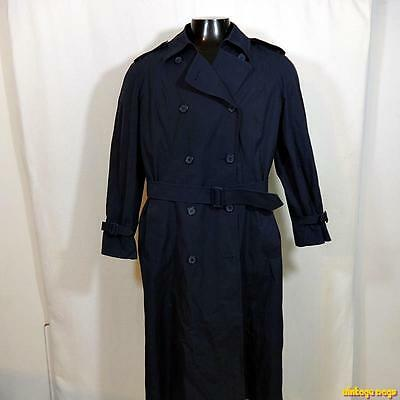 US Army Military 1990 RAINCOAT Trench Coat Womens Size 18 Blue w/ liner