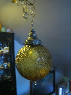 Vintage Ornate Hollywood Regeny Mid Century Swag Ceiling Light Fixture
