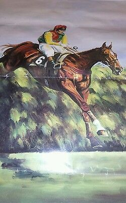 Racing Mr Frisk Jumping for Fun Grand National Signed Limited edition print