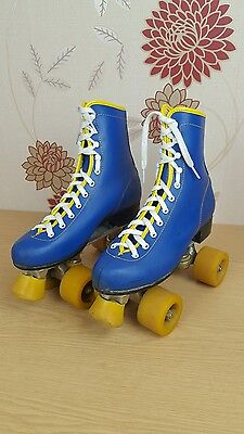 Roller Quad skates Boots size 6 retro vintage darby disco Blue Boots