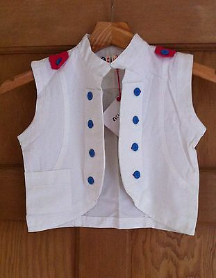 ATIVO WAISTCOAT WHITE Top age 12 NEW UNIQUE KAWAII