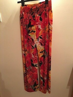 Ladies Trousers S/M Multicoloured Wide Leg