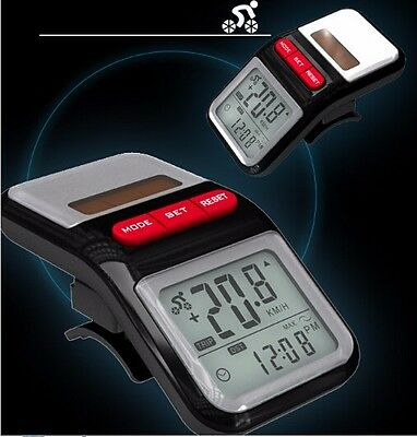 Solar Bicycle Speed Computer Velo Bike Wired Counter Speedometer Odometer