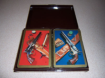 """1950s VTG """"GREAT GUNS"""" HISTORICAL PISTOLS PLAYING CARDS"""