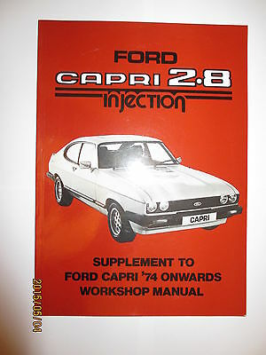 Ford Official Capri 2.8 Injection Supplement Manual 280 Tickford 2.8 Special