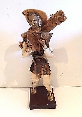 Vintage Hand-Crafted Large Papier Mache Sculpture Ethnic Mexican Folk Art Figure