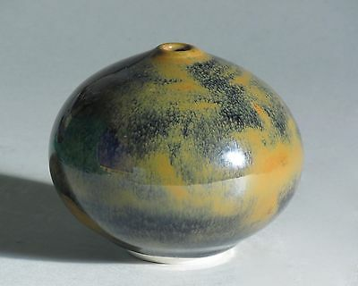 Porcelain vase with mottled glaze, made by Vivika and Otto Heino, early 1980's