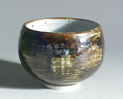 Porcelain vessel with mottled glaze, made by Otto Heino