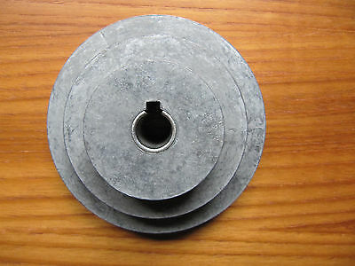 """Congress Detroit USA 3 Step Three Speed 4"""" Pulley for 1/2-5/8 Shafted Machines"""