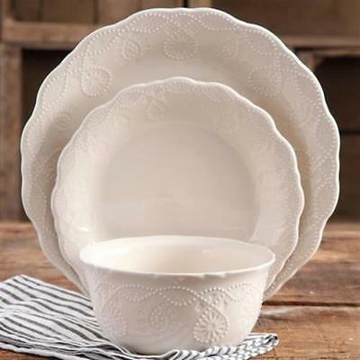 The Pioneer Woman Cowgirl Lace 12 Piece Dinnerware Set Plates Service Dishes NEW