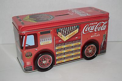 Coca-Cola Vintage Inspired Truck Tin Bank with Wheels - NWOT