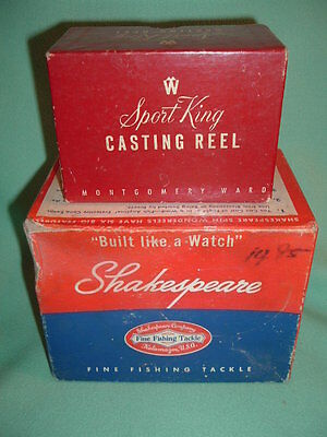 Vintage Shakespeare Spin Wondereel 1750 & Sport King Wards 60 Reel BOXES ONLY