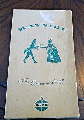 Vintage  Standard Oil Company 12 Wayside SILVER HAND DIPS Candles with Box