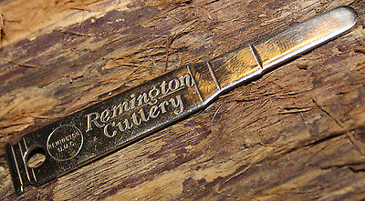 Rare New Mint Vintage Remington Usa Silver Bullet Blade Opening Tool Keychain