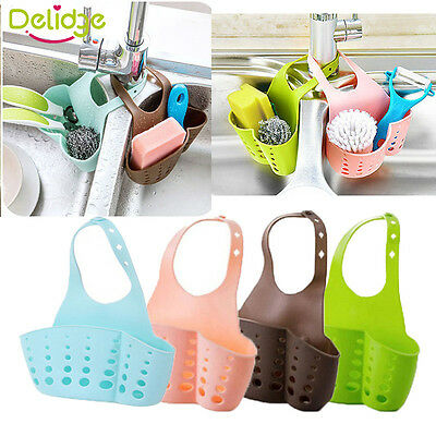 Adjust Kitchen Saddle Strainer Sink Caddy Storage Sponge Rack Holder Organizer