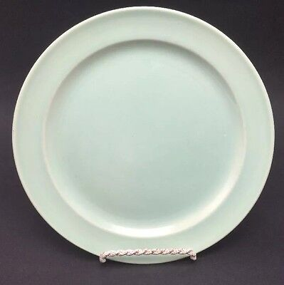 "Taylor Smith & Taylor Lu-Ray Pastels LUNCHEON PLATE Light Green 9 1/4"" USA"