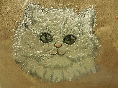 PawFect Embroidered Persian Face Pillow I Love Heart My Cat NEW in Pkg w/Tags