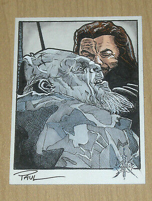 2016 Cryptozoic Hobbit Battle 5 Five Armies sketch card 1/1 Paul Cowen