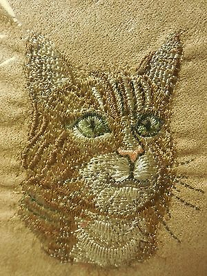 PawFect Embroidered Orange Striped Face I Love My Cat Pillow NEW in Pkg w/Tags