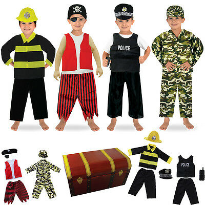1set/14pcs Boys Role Play Dress up Trunk Costume Set for Children Pretend Play