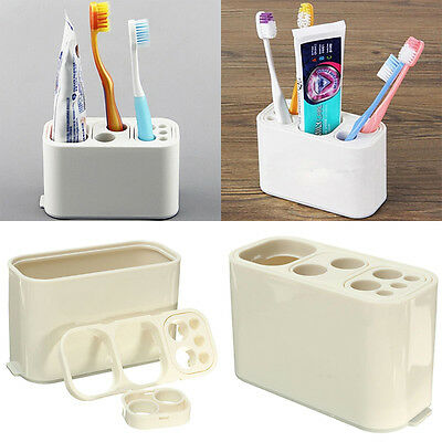 Home Toothbrush Toothpaste Holder Tidy Organizer Bathroom Storage Container NEW