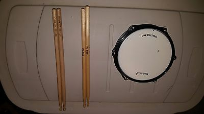 Ludwig Practice Pad Head Slightly Used With Two New Drum Stick Sets Percussion