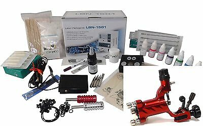 INKgrafiX LADY GIRL ROTARY IG-DR1 TATTOO KOMPLETTSET Tattoomaschine SET - PROFI