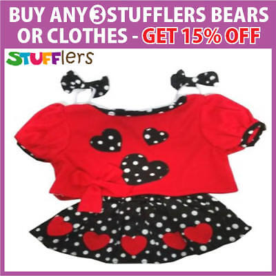 Girls Rock n Roll Clothing Outfit by Stufflers – Will fit on a Build a bear