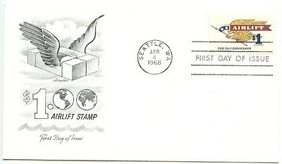 1968 Fdc, Airlift Military Parcel Mail