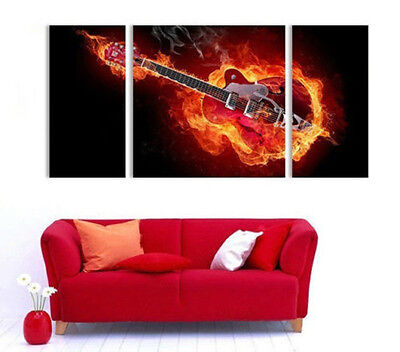 MODERN CANVAS ART OIL PAINTING Guitar Musical Instruments  (no framed)  023